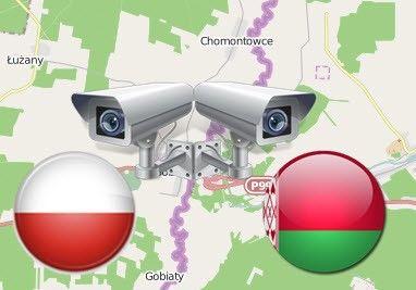 Видеокамеры на границе Польша-Беларусь
